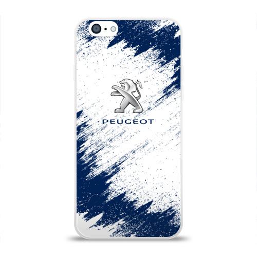 Чехол для Apple iPhone 6 силиконовый глянцевый  Фото 01, Peugeot