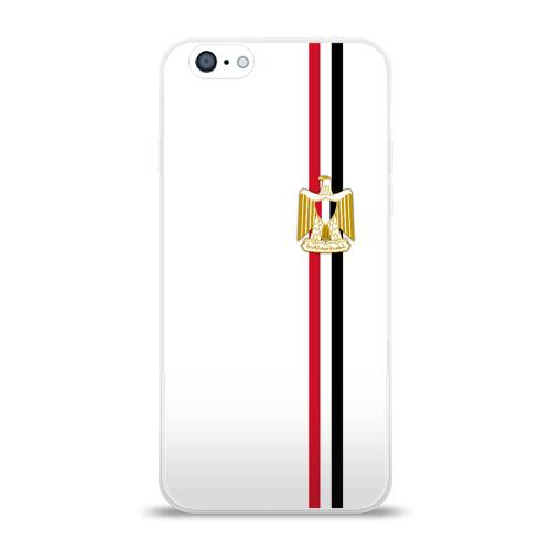 Чехол для Apple iPhone 6 силиконовый глянцевый  Фото 01, Египет, лента с гербом