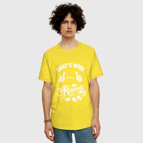 Мужская футболка хлопок Oversize Вот кто любит The Rasmus Фото 01