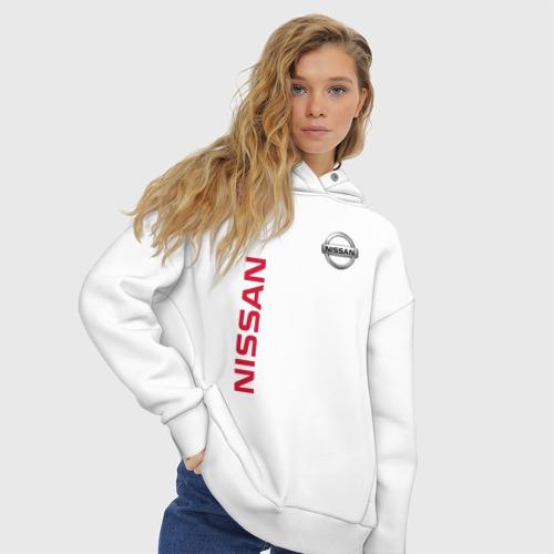 Женское худи Oversize хлопок Nissan Фото 01