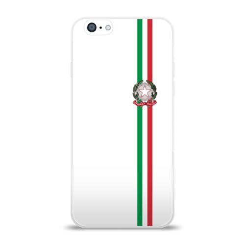 Чехол для Apple iPhone 6 силиконовый глянцевый  Фото 01, Италия, лента с гербом