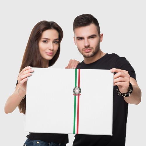 Холст прямоугольный  Фото 05, Италия, лента с гербом