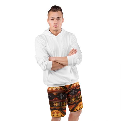 Мужские шорты 3D спортивные  Фото 05, Aztec ornament