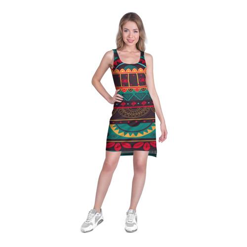 Платье-майка 3D  Фото 03, Мексиканский орнамент