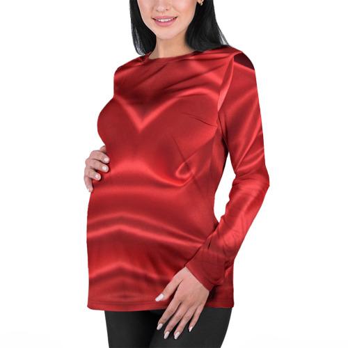 Женский лонгслив 3D для беременных  Фото 01, Красный Шелк