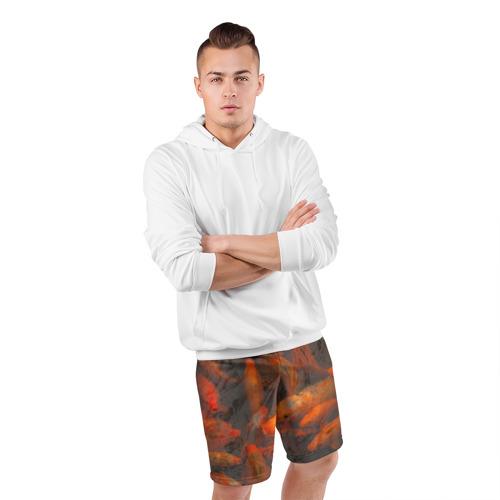 Мужские шорты 3D спортивные  Фото 05, Золотой карп