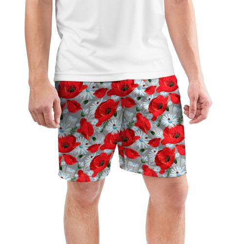 Мужские шорты 3D спортивные  Фото 03, Маки