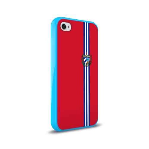 Чехол для Apple iPhone 4/4S силиконовый глянцевый  Фото 02, Куба, лента с гербом