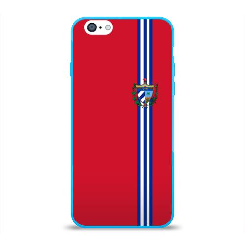 Чехол для Apple iPhone 6 силиконовый глянцевый  Фото 01, Куба, лента с гербом