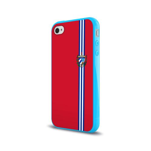 Чехол для Apple iPhone 4/4S силиконовый глянцевый  Фото 03, Куба, лента с гербом