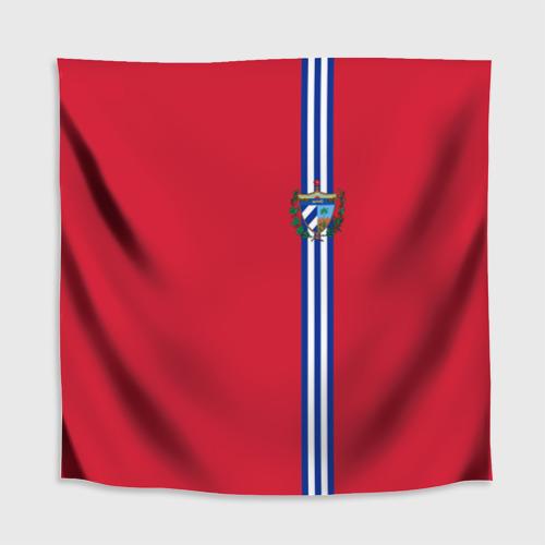 Скатерть 3D  Фото 02, Куба, лента с гербом