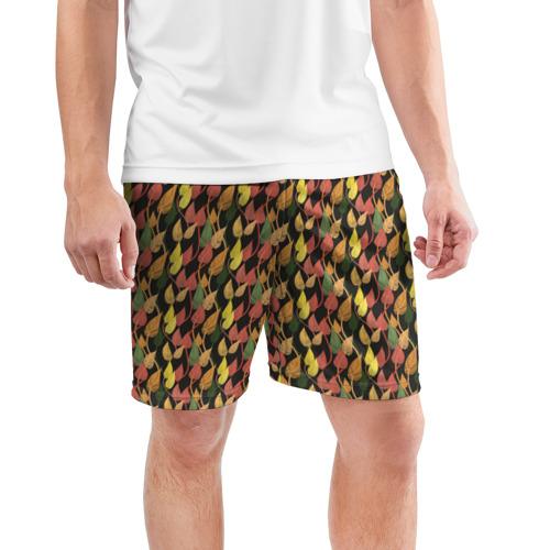 Мужские шорты 3D спортивные  Фото 03, Листья