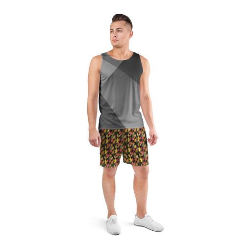 Мужские шорты 3D спортивные  Фото 04, Листья