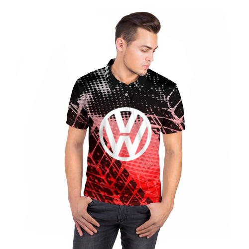 Мужская рубашка поло 3D  Фото 05, Volkswagen sport auto motors