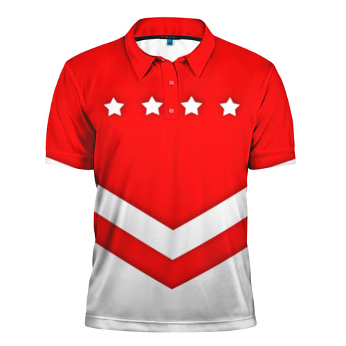 Мужская рубашка поло 3D  Фото 01, Звезды и полосы
