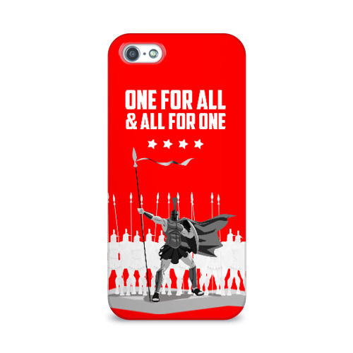 Чехол для Apple iPhone 5/5S 3D  Фото 01, One for all & all for one!