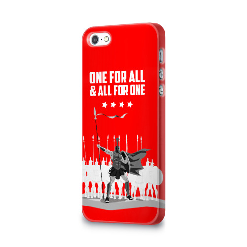 Чехол для Apple iPhone 5/5S 3D  Фото 03, One for all & all for one!