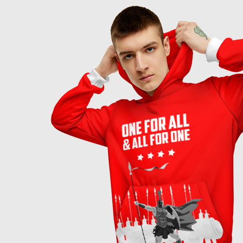Мужская толстовка 3D One for all & all for one!