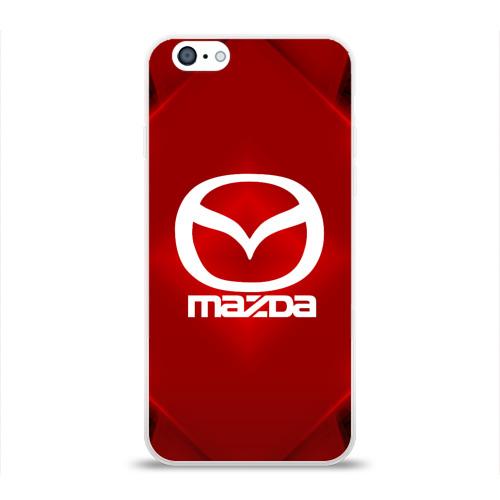 Чехол для Apple iPhone 6 силиконовый глянцевый  Фото 01, Mazda SPORT