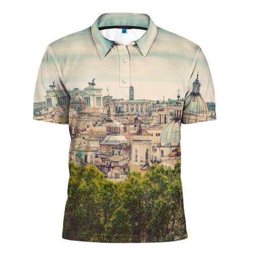 Мужская рубашка поло 3D Рим