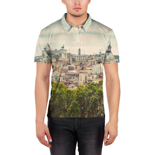 Мужская рубашка поло 3D  Фото 03, Рим