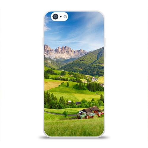 Чехол для Apple iPhone 6 силиконовый глянцевый  Фото 01, Альпы