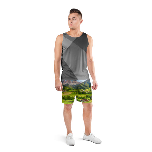Мужские шорты 3D спортивные  Фото 04, Альпы