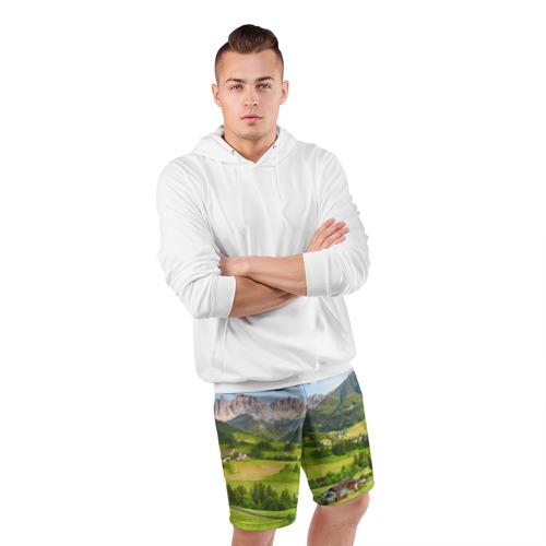 Мужские шорты 3D спортивные  Фото 05, Альпы