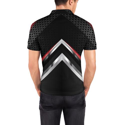 Мужская рубашка поло 3D  Фото 04, Volkswagen abstract line