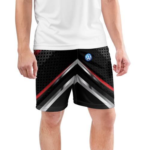 Мужские шорты 3D спортивные  Фото 03, Volkswagen abstract line