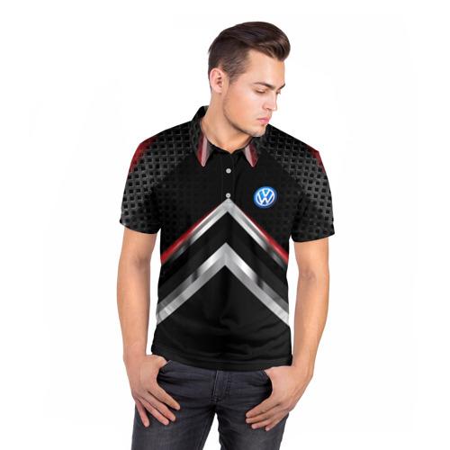 Мужская рубашка поло 3D  Фото 05, Volkswagen abstract line