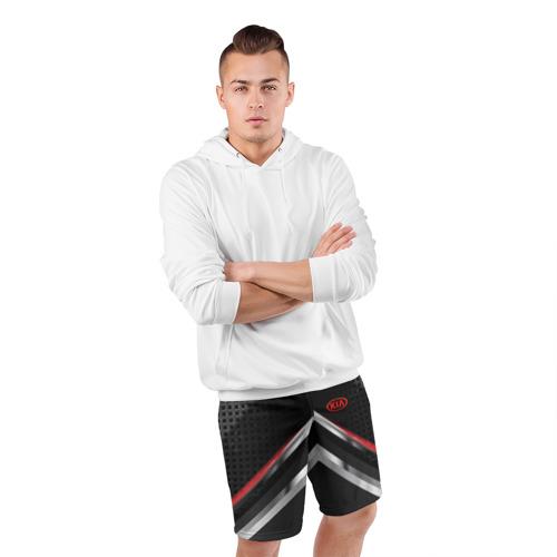 Мужские шорты 3D спортивные  Фото 05, Kia abstract line