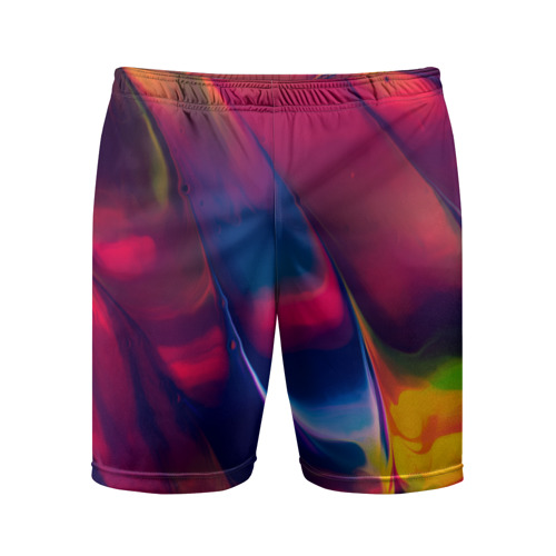 Мужские шорты 3D спортивные  Фото 01, Красочная идилия
