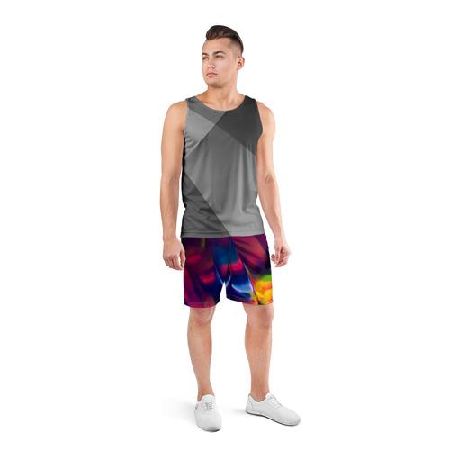 Мужские шорты 3D спортивные  Фото 04, Красочная идилия