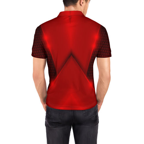 Мужская рубашка поло 3D  Фото 04, Mazda  car sport RED