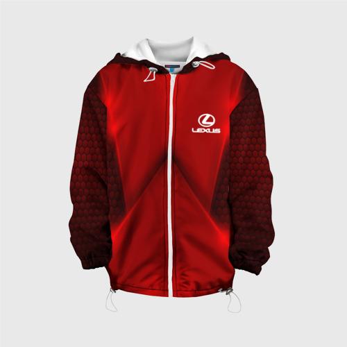 Детская куртка 3D  Фото 01, Lexus car sport RED