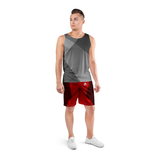 Мужские шорты 3D спортивные  Фото 04, Citroen car sport RED