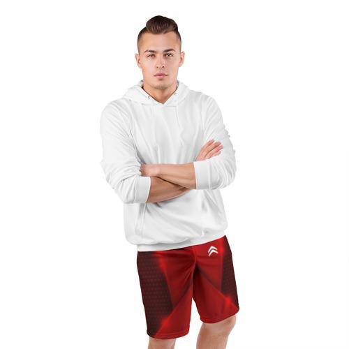 Мужские шорты 3D спортивные  Фото 05, Citroen car sport RED