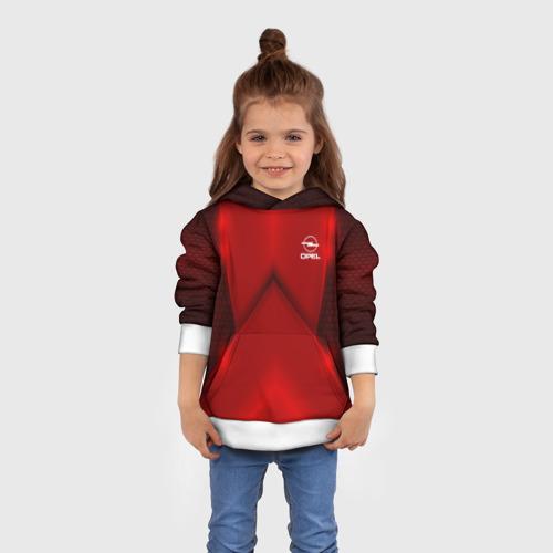 Детская толстовка 3D  Фото 01, Opel car sport RED
