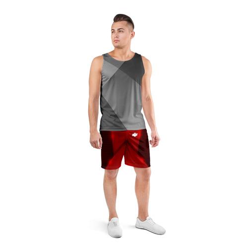 Мужские шорты 3D спортивные  Фото 04, Chevrolet car sport RED