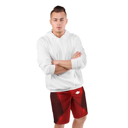 Мужские шорты 3D спортивные  Фото 05, Chevrolet car sport RED
