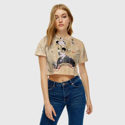 Женская футболка 3D укороченная  Фото 04, Зигмунд Фрейд