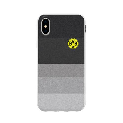 Чехол для Apple iPhone X силиконовый матовый Боруссия