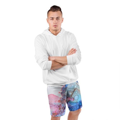 Мужские шорты 3D спортивные  Фото 05, Акварельные разводы