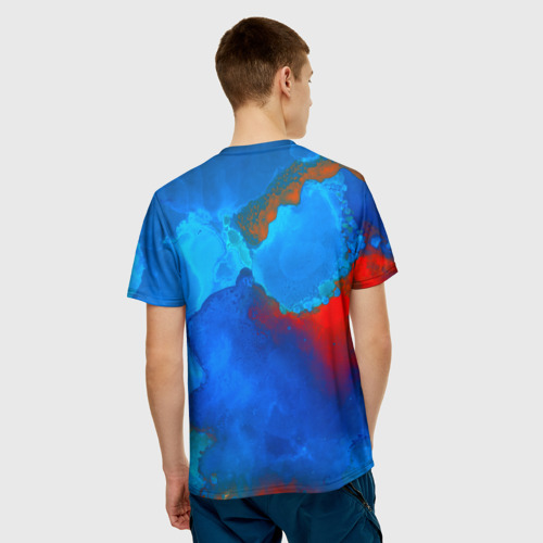 Мужская футболка 3D  Фото 02, blob color