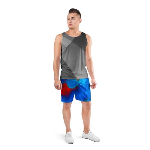 Мужские шорты 3D спортивные  Фото 04, blob color