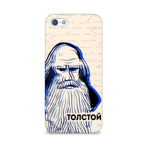 Чехол для Apple iPhone 5/5S 3D  Фото 01, Лев Толстой