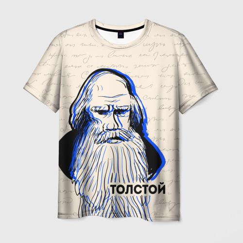 Мужская футболка 3D Лев Толстой