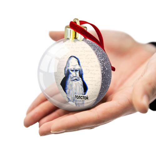 Ёлочный шар с блестками  Фото 03, Лев Толстой
