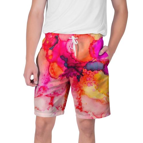 Мужские шорты 3D Весенние краски Фото 01